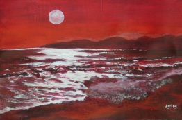 Moonrise in Red