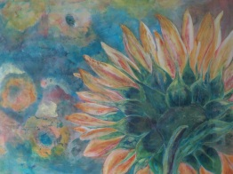 SOLD Sunflowers in Repose