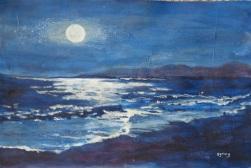 SOLD Moonlight in Blue