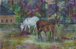 En Normandie Mare and Foal
