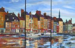SOLD Honfleur--A Triptych